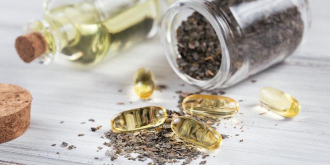 flax seed and omega oil capsules